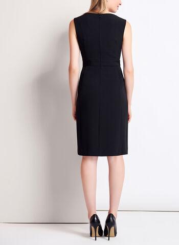 Sleeveless Colour Block Keyhole Dress, , hi-res