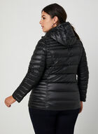 Quilted Packable Lightweight Coat, Black