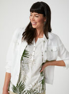 T-shirt motif feuilles de palmier, Blanc, hi-res