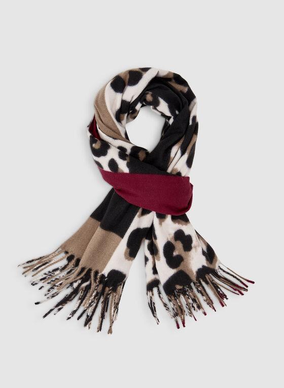 Foulard à imprimé patchwork, Noir