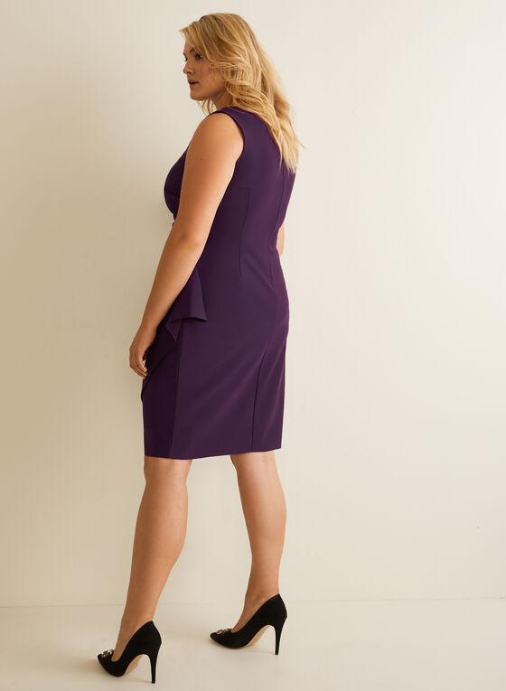 Sleeveless Crossover Cocktail Dress, Purple