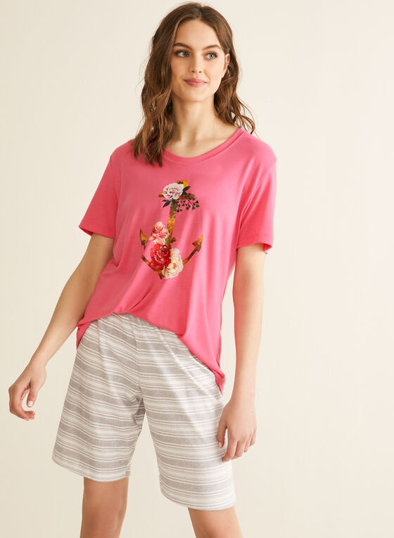 Claudel Lingerie - Pyjama à imprimé nautique, Rose