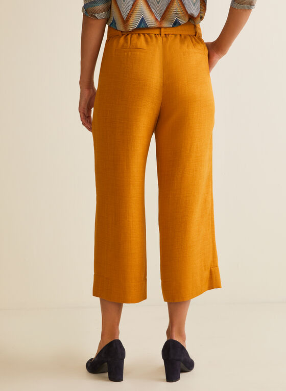 Belted Skirt Pants , Yellow