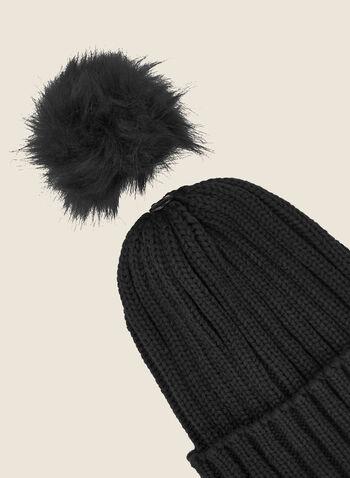Tuque à pompon amovible, Gris,  automne hiver 2020, tuque, chapeau, tricot, accessoire