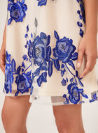 Floral Embroidered Sleeveless Dress, White, hi-res