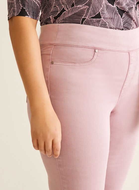 Capri pull-on en denim, Violet