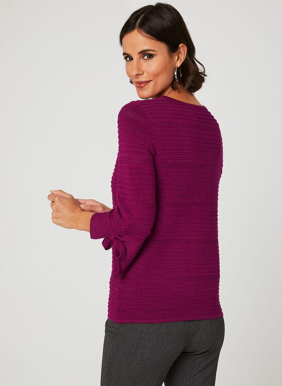 Pull en tricot ottoman à effet texturé, Rose, hi-res