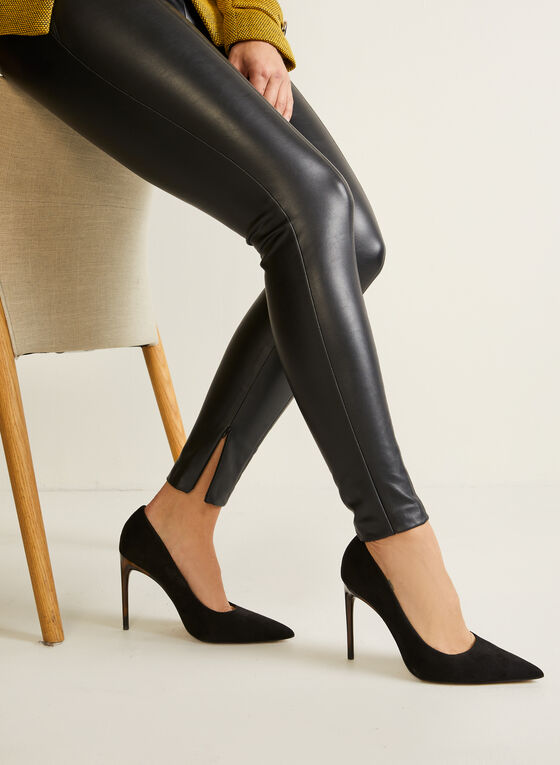 Legging en cuir végane , Noir