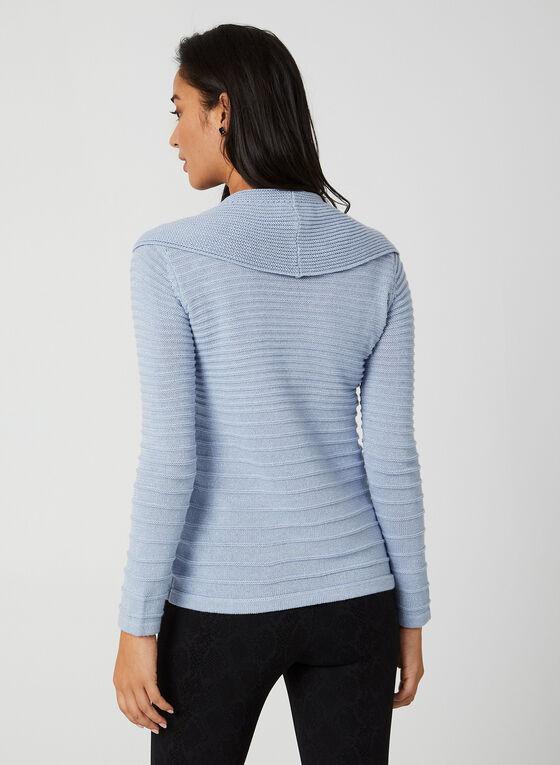 Long Sleeve Lurex Sweater, Blue