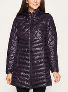 Lightweight Quilted Packable Coat, Purple, hi-res