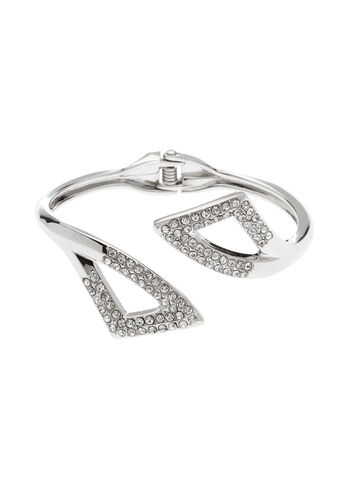 Crystal Embellished Cutout Bangle, , hi-res