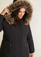 Hooded Down Coat, Black