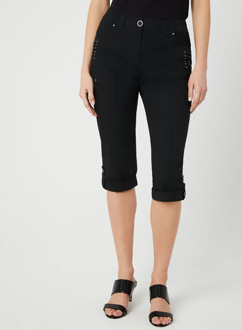 Modern Fit Capri Pants, Black, hi-res,  capri pants, cargo, Modern Fit, straight leg, spring 2019