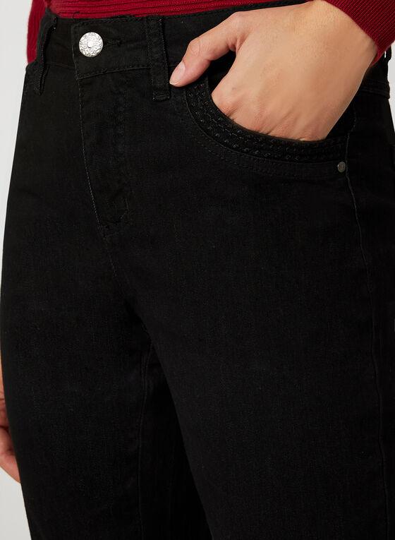 Simon Chang - Jeans coupe signature à jambe droite, Noir