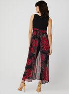 Combinaison robe en mousseline fleurie, Noir, hi-res