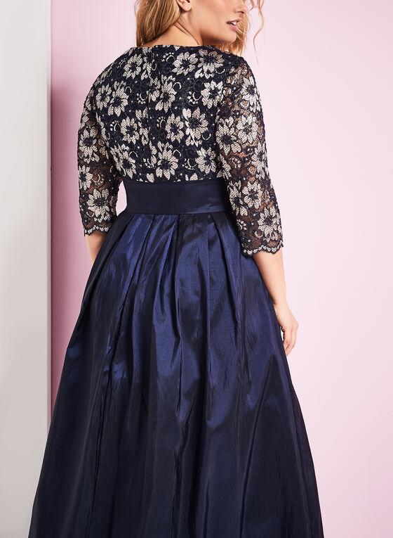 Lace & Taffeta Ball Gown, Blue, hi-res