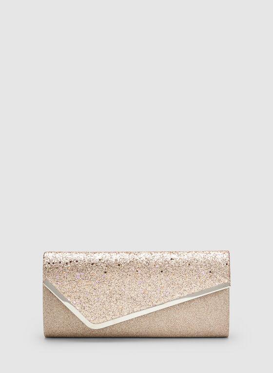 Glitter Envelope Clutch, Pink