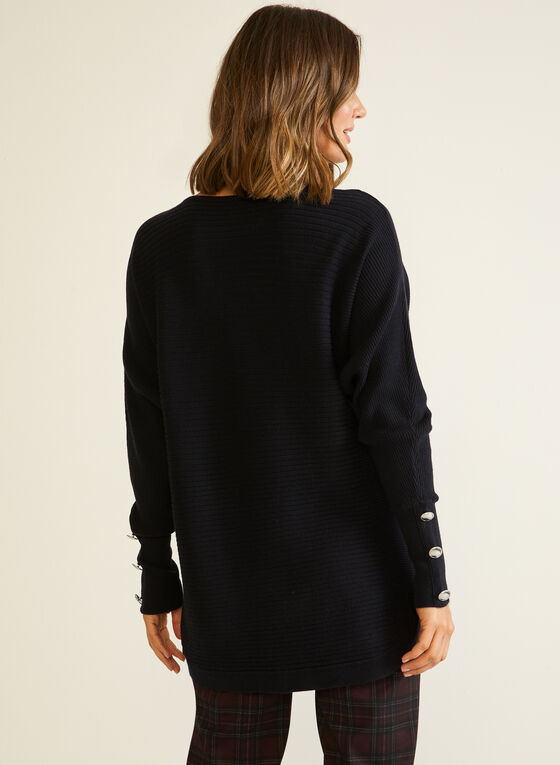 Dolman Sleeve Sweater, Black