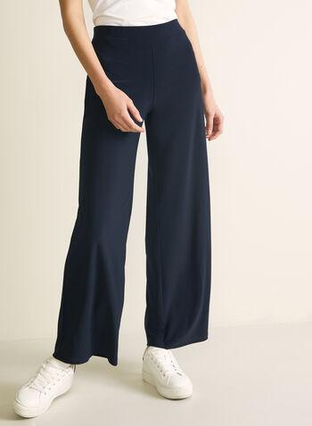 Pantalon pull-on à jambe large, Bleu,  dress pants