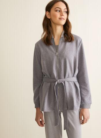 Claudel Lingerie - Pyjama trois pièces, Gris,  printemps été 2020, pyjama, ensemble, Claudel Lingerie