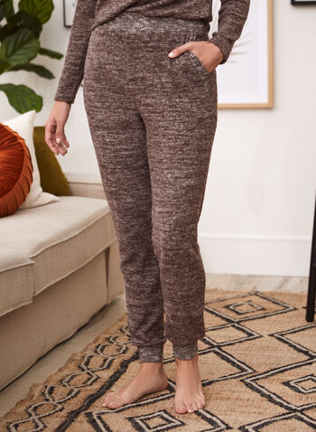 Pull-On Jogger Pants, Brown,  jogger, pants, sweatpants, elastic waist, pockets, pull on, fall winter 2021
