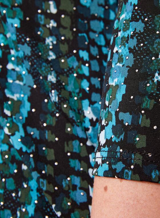 Cold Shoulder Jersey Top , Blue, hi-res