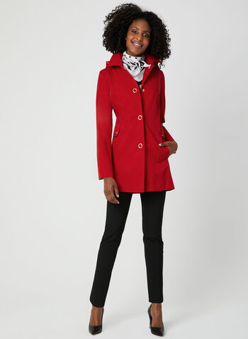 Anne Klein - A-Line Coat, Red, hi-res