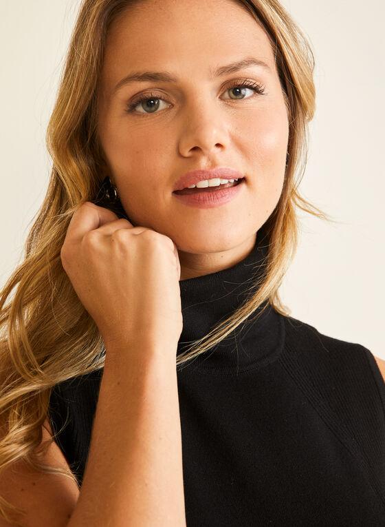 Sleeveless Turtleneck Sweater, Black