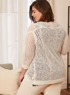 Pointelle Open Front Cardigan, White