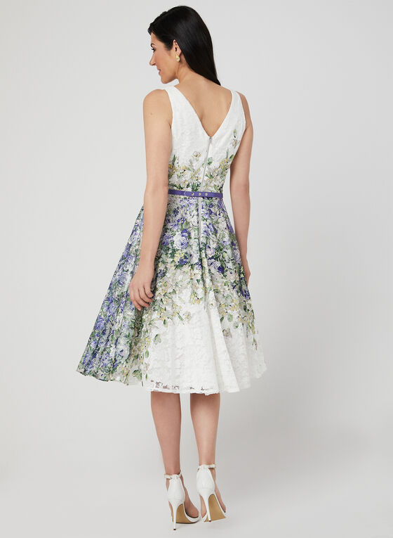Fit & Flare Lace Dress, Purple