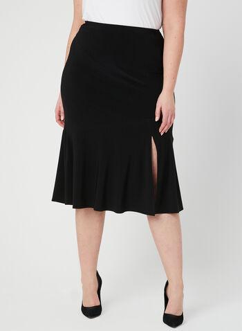 Joseph Ribkoff - Jersey A-Line Skirt, Black, hi-res