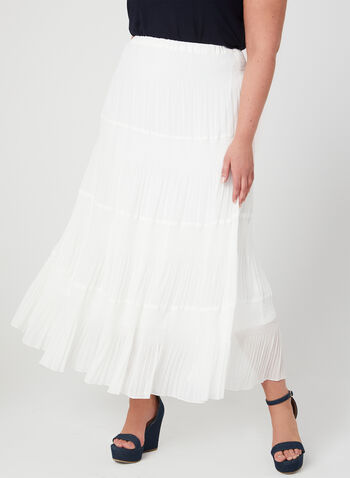 Alison Sheri - Tiered Maxi Skirt, White, hi-res,  pull-on, maxi skirt, spring 2019
