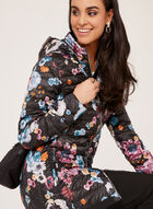 Nuage - Floral Lightweight Packable Down Coat, Black, hi-res