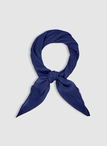 Foulard léger uni, Bleu, hi-res