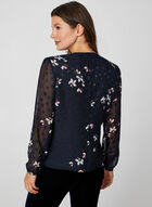 Faux Wrap Floral Blouse, Blue