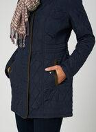 Weatherproof - Lightweight Quilted Coat, Blue, hi-res