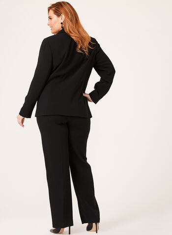 Louben - Structured One Button Blazer, Black, hi-res