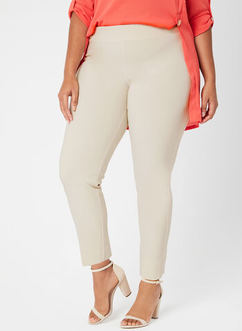 Joseph Ribkoff - Modern Fit Slim Leg Pants, Off White, hi-res