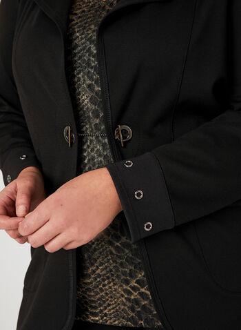 Picadilly - Veste déstructurée à œillets, Noir, hi-res