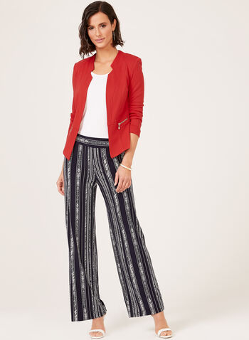 Pull-On Wide Leg Pants, Blue, hi-res