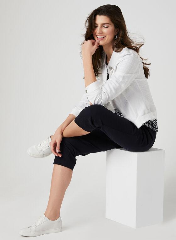 Linen Blend Jacket, White, hi-res