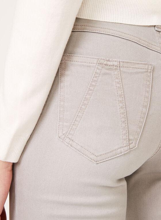 Jean à jambe étroite et effet ventre plat, Argent, hi-res