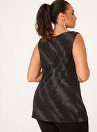 Sparkle Embellished Jersey Tunic, Black, hi-res