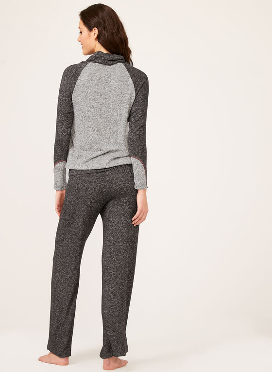 Heather Knit Top, Grey, hi-res