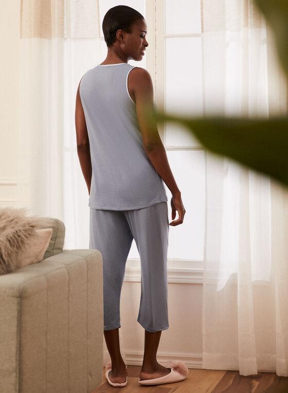 Lace Detail Pyjama Set, Blue