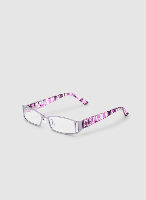 Geometric Stem Glasses, Purple