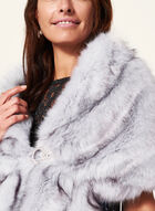 Faux Fur Stole, Purple, hi-res
