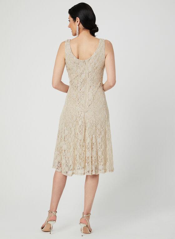 Midi Lace Dress, Off White, hi-res