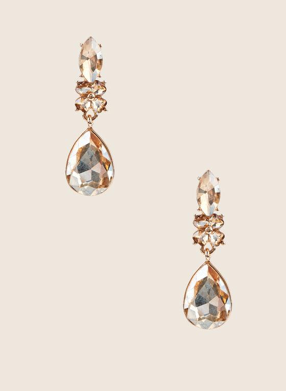 Teardrop Pendant Earrings, Gold