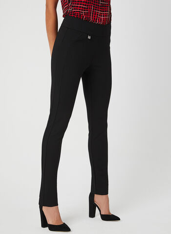 Simon Chang - Pantalon pull-on coupe signature, Noir, hi-res